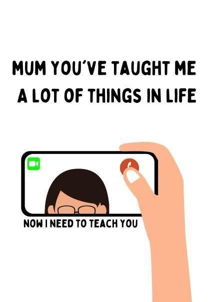 Mum You've Taught Me A Lot of Things In Life Mother's Day Card, Thortful (Photo: Thortful)