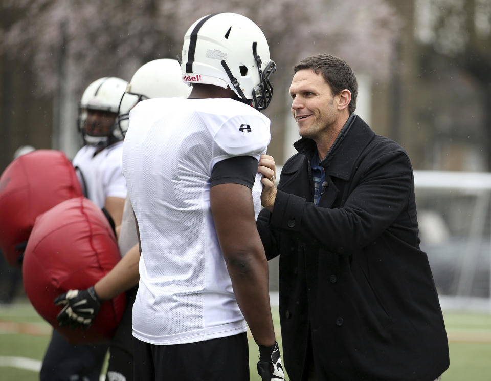 Tony Boselli described a harrowing experience with COVID-19, but he's through the worst of it. (Steven Paston/PA via AP)