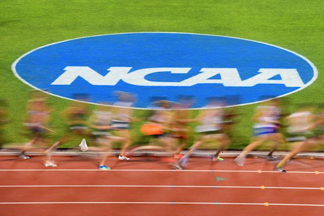 The NCAA outdoor track and field championships will not happen in 2020 due to the coronavirus pandemic. (Jamie Schwaberow/NCAA Photos/Getty Images)