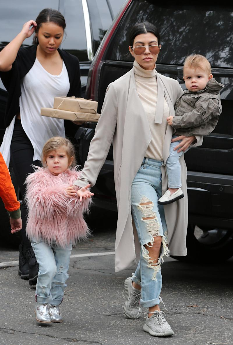 a9519510947f Looks Like Penelope Disick   North West Have the Same Taste in Outerwear