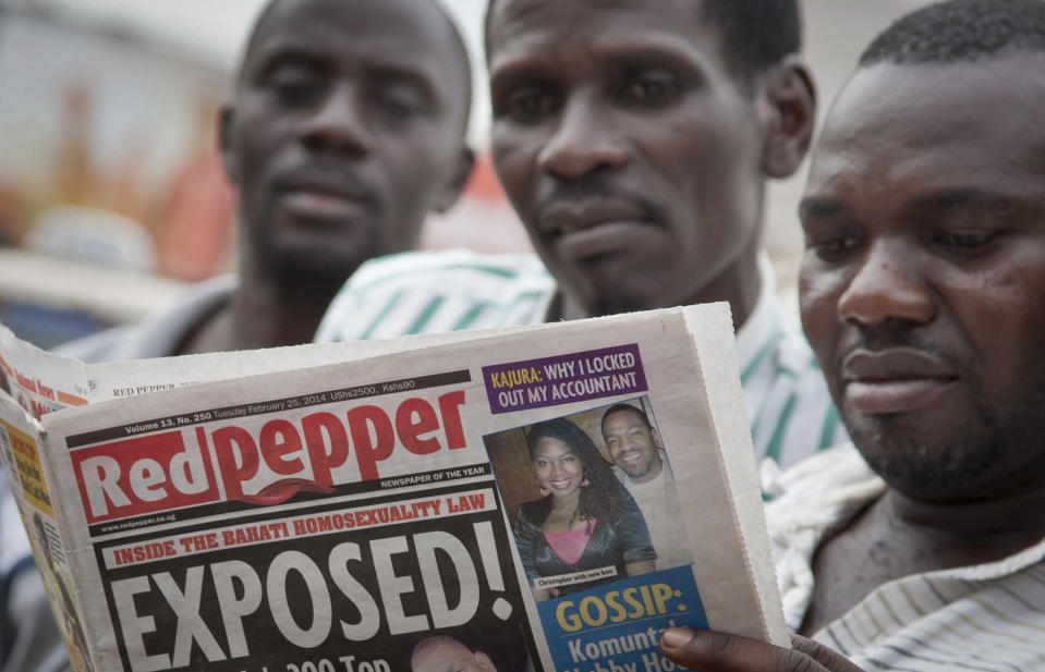 Uganda tabloid prints list of 'top' homosexuals