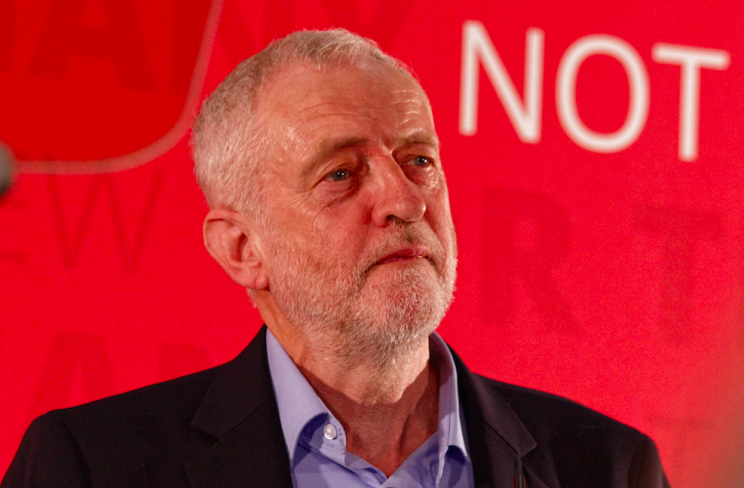 <em>Jeremy Corbyn insisted he was not embarrassed by Ms Abbott's fumbling interview (Rex)</em>