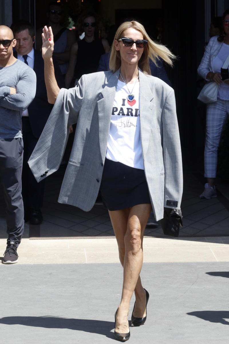 Singer Celine Dion is seen leaving her hotel in Paris, France, on July 3rd, 2019. [Photo: Getty[