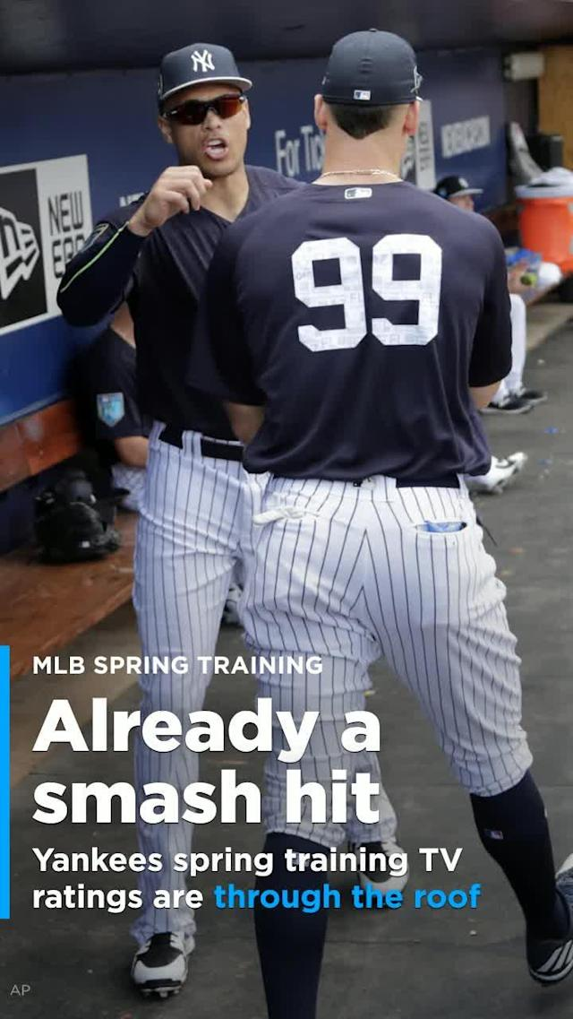 If you don't think New York Yankees fans are hyped for the upcoming season, you'd better think again. The proof is in the television ratings, which have soared to record levels during spring training.
