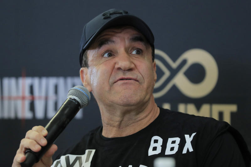 Jeff Fenech talks to the media during a media opportunity.