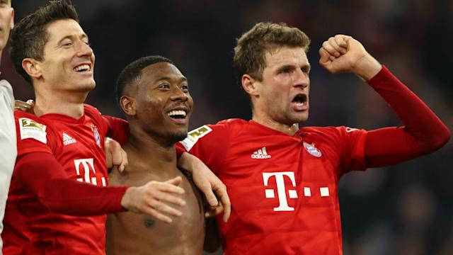 The Bayern Munich legends each made historic contributions as their team swept to victory over Borussia Dortmund and leapfrogged their rivals