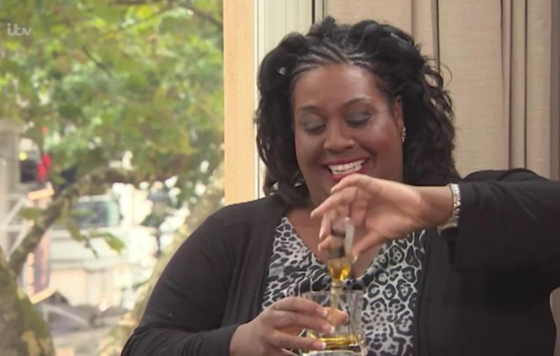 Interviewer Alison Hammond came prepared. Source: ITV / This Morning