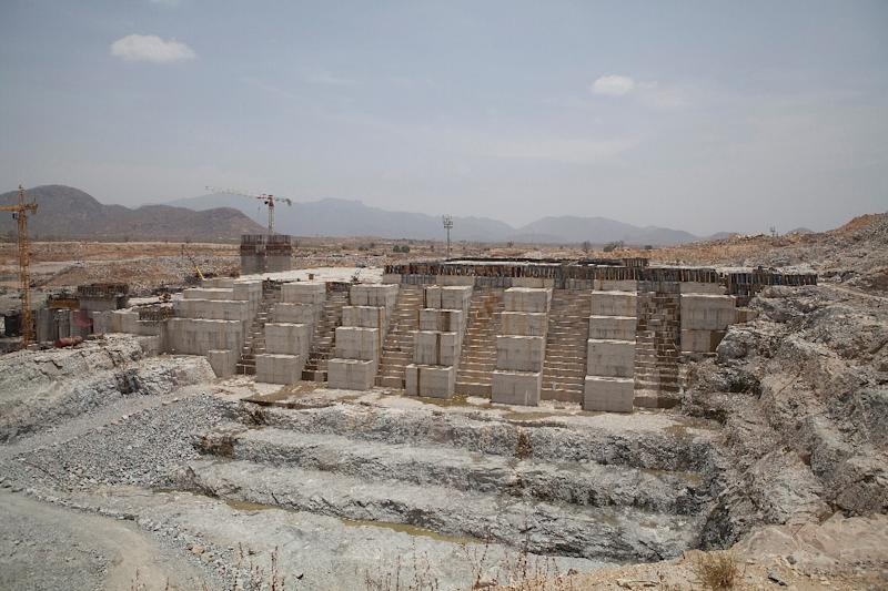 File picture from March 2015 of Ethiopia's Grand Renaissance Dam. The project has stirred fears in parched Egypt that it could crimp flows in the Nile downstream