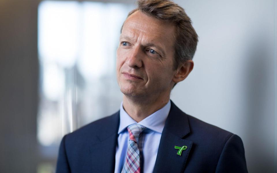 Andy Haldane, the BoE's outgoing chief economist, is insistent the UK economy will surge back to life this summer - Jason Alden/Bloomberg