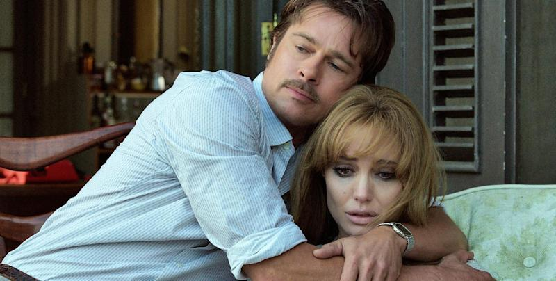 """FILE - This file photo provided by Universal Pictures shows, Brad Pitt, left, and Angelina Jolie Pitt in a scene from the film """"By the Sea."""" Angelina Jolie Pitt has filed for divorce from Brad Pitt, bringing an end to one of the world's most star-studded, tabloid-generating romances. An attorney for Jolie Pitt, Robert Offer, said Tuesday, Sept. 20, 2016, that she has filed for the dissolution of the marriage. (Universal Pictures via AP, File)"""