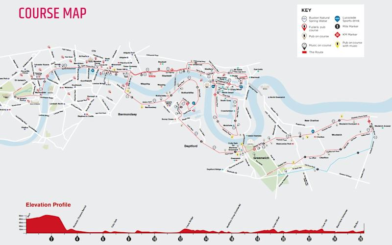 London Marathon route - Credit: Virgin Money London Marathon