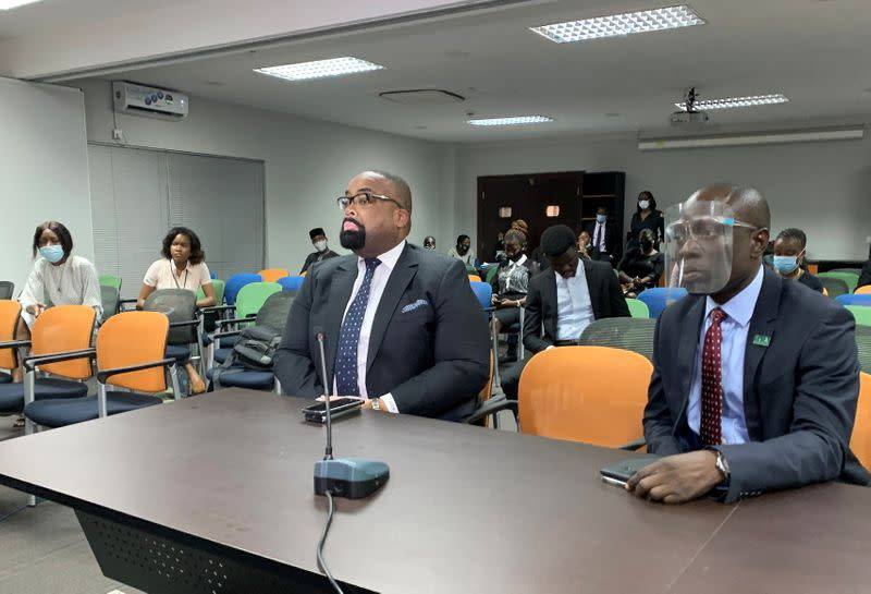 Olumide Akpata, President of the Nigerian Bar Association, attends a judicial panel in Lagos
