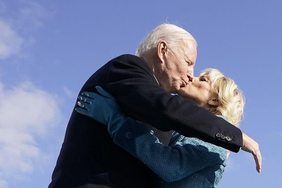 """<p>""""What Jill is best at helping me do is figure out who the people around me would be most compatible with me,"""" he told <a href=""""https://people.com/politics/jill-biden-will-continue-to-teach-if-she-becomes-first-lady/"""" rel=""""nofollow noopener"""" target=""""_blank"""" data-ylk=""""slk:CBS"""" class=""""link rapid-noclick-resp"""">CBS</a>. """"She knows me better than I know me.""""</p>"""