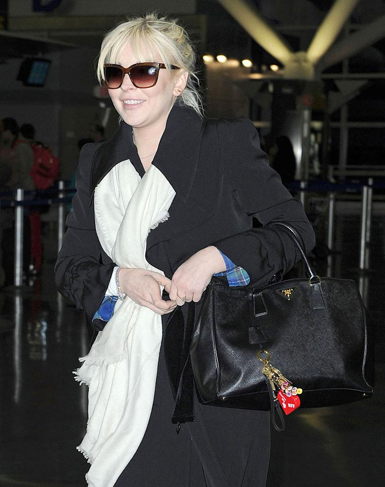 "After hosting ""Saturday Night Live"" this past weekend, Lindsay Lohan jetted out of New  York City's JFK airport and headed back to Los Angeles on Monday.Though the episode nabbed  the second-best ratings of the season, Lindsay's performance was panned by viewers and critics. (3/5/2012)"
