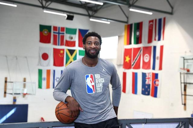 "Pistons center <a class=""link rapid-noclick-resp"" href=""/nba/players/5015/"" data-ylk=""slk:Andre Drummond"">Andre Drummond</a> spent nearly two weeks in South Africa this summer. (Getty)"