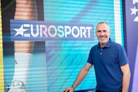 Eurosport tennis expert Alex Corretja is pictured in the Eurosport studio at the Australian Open, Melbourne, Australia January 14, 2019. Picture taken January 14, 2019. Eurosport/Handout via REUTERS. THIS IMAGE HAS BEEN SUPPLIED BY A THIRD PARTY. NO RESALES. NO ARCHIVES. MANDATORY CREDIT
