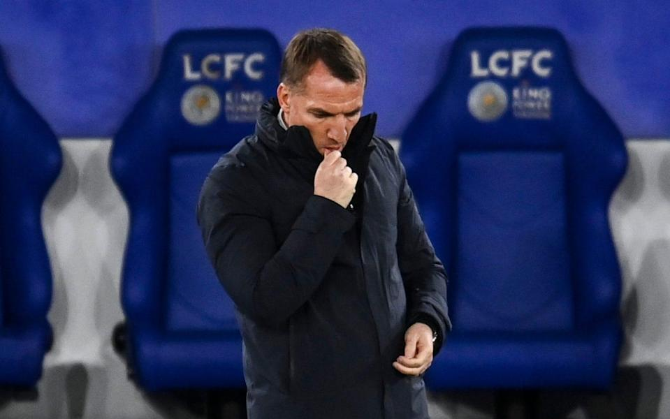 Brendan Rodgers has a lot to ponder after the chastening defeat for his Champions League-chasing Leicester side - RYAN BROWN