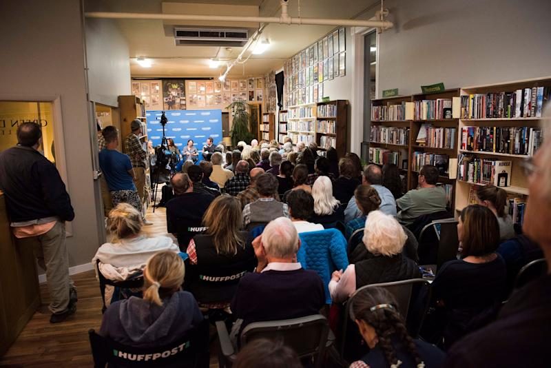 "The audience fills the event space at Elk River Books to hear the ""Please Don't Let Me Be Misunderstood"" discussion."