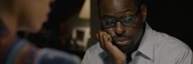 Randall from This is Us looking down