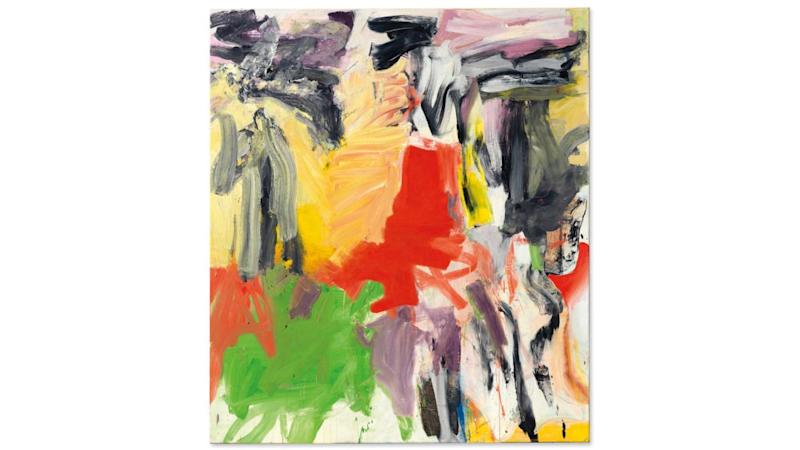 Willem de Kooning's Untitled 1, 1979, sold for $10.1 million.