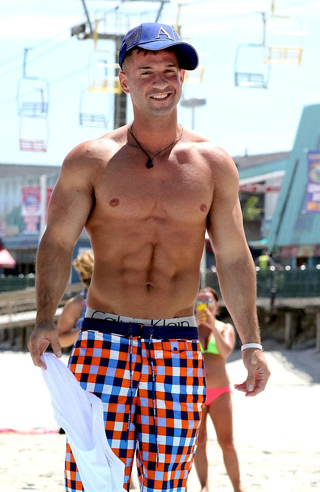 "Mike Sorrentino, who's better known as ""The Situation"" on MTV's ""Jersey Shore,"" is always flaunting his rock-hard abs, whether he's on a beach or not. And, as much as we hate to admit it, they <em>are</em> pretty impressive!"