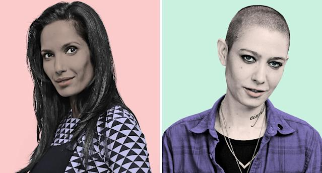 Padma Lakshmi, left, and Asia Kate Dillon. (Photos: Getty Images/Quinn Lemmers for Yahoo Lifestyle)