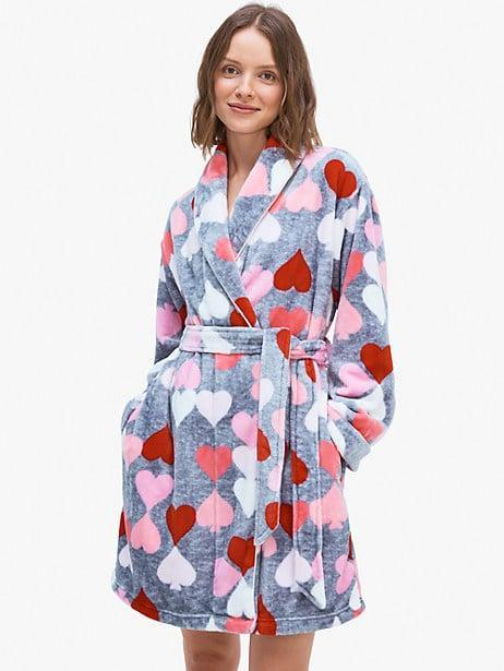 <p>Stay cozy in this <span>Kate Spade New York Heart Spade Robe</span> ($78).</p>