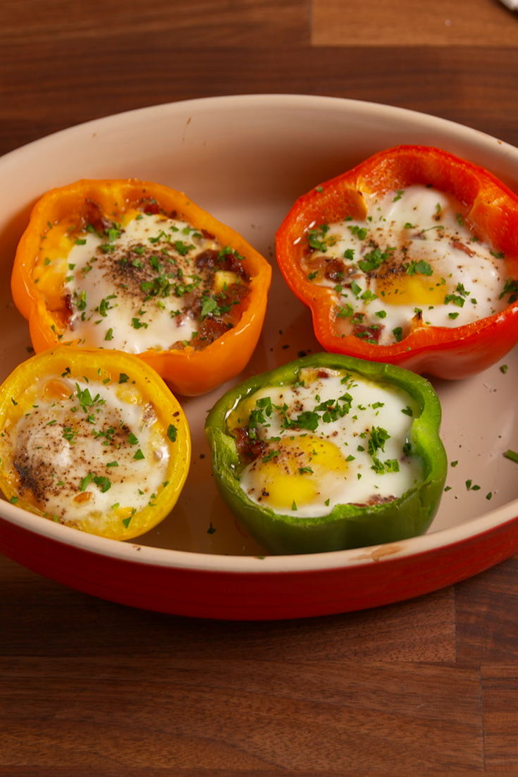 """<p>The cutest eggs we ever did see!</p><p>Get the recipe from <a href=""""/cooking/recipe-ideas/recipes/a51522/pepper-egg-in-a-hole-recipe/"""" data-ylk=""""slk:Delish"""" class=""""link rapid-noclick-resp"""">Delish</a>.</p>"""