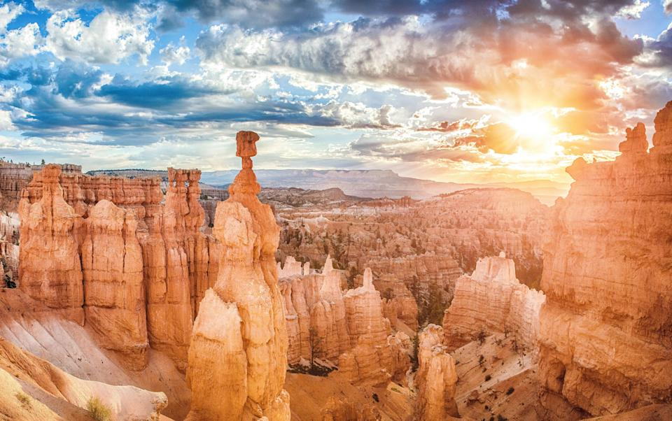 "<p><strong>Best thing to do in Utah:</strong> Tour the Mighty Five</p> <p>No road trip in the U.S. is more visually mind-blowing than a tour of the <a href=""https://www.cntraveler.com/story/a-snap-guide-to-road-tripping-through-the-mighty-five?mbid=synd_yahoo_rss"" rel=""nofollow noopener"" target=""_blank"" data-ylk=""slk:Mighty Five"" class=""link rapid-noclick-resp"">Mighty Five</a>—the tight cluster of national parks in Utah that include Zion, Bryce Canyon, Capitol Reef, Arches, and Canyonlands. Whether you start in Salt Lake City and work your way south, or head east from Las Vegas, it's possible to hit all the parks in three days. But if you can, we suggest taking off work for two weeks and really going for it, knocking around the Mars-like formations of red rocks and hitting as many little museums and restaurants as you can between each park.</p>"