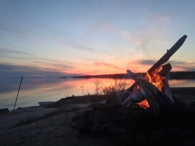 Quebec's forest fire prevention agency, SOPFEU, is asking Quebecers to stick to campfires that have fire screens and avoid all open air fires, particularly near wooded areas. (Andrew Pacey/CBC - image credit)