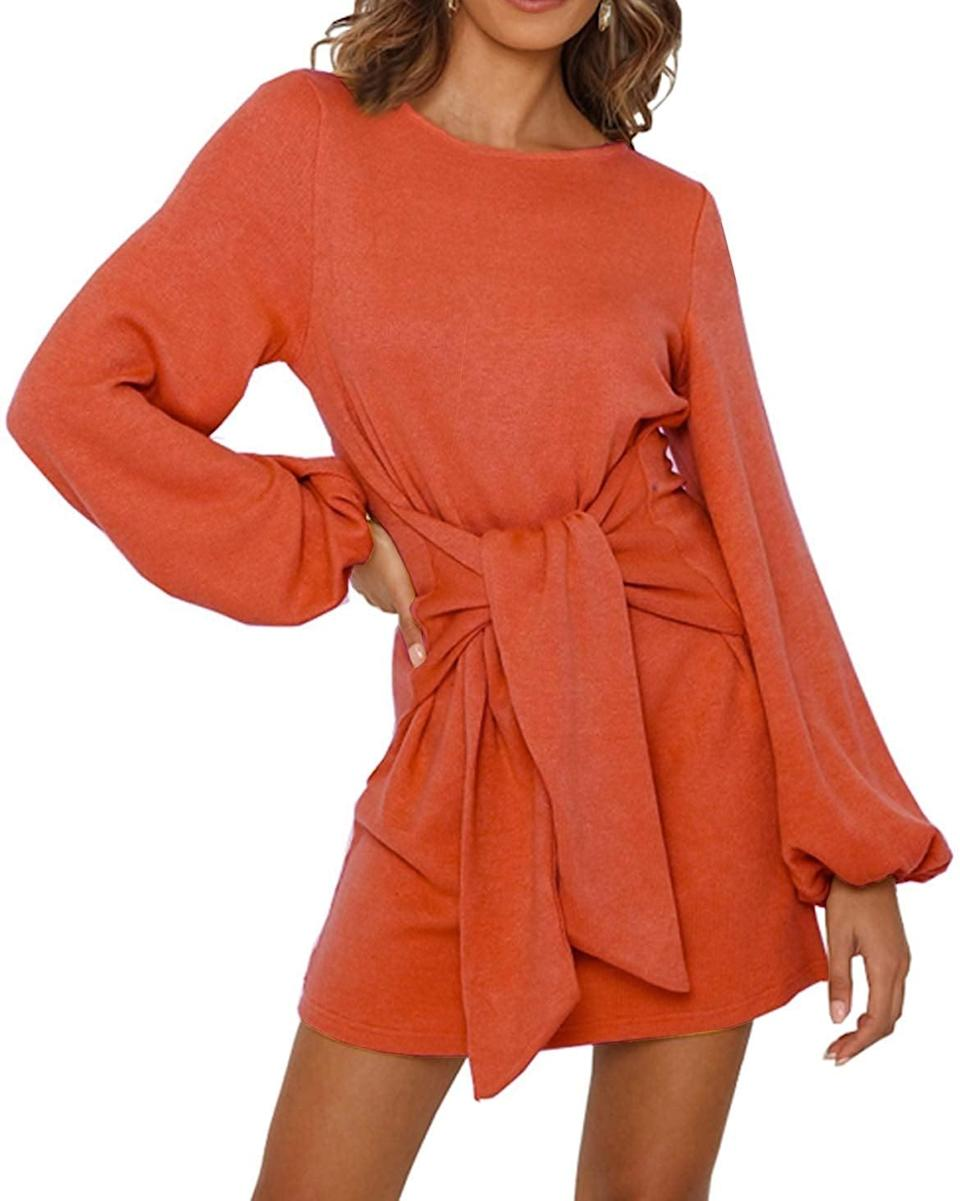 <p>This <span>R.Vivimos Knitted Tie-Waist Sweater Dress </span> ($24) has been selling like crazy.</p>
