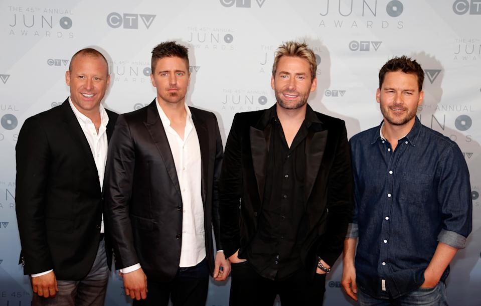 Juno Nominees Nickelback arrive on the red carpet for the 2016 Juno Awards in Calgary, Alberta, Canada, April 3, 2016. REUTERS/Chris Bolin/File Photo
