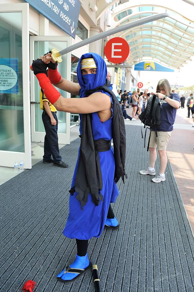 SAN DIEGO, CA - JULY 11:  Andrew Valenzuela of San Diego, dresses in cosplay for 2012 Comic-Con at the San Diego Convention Center on July 11, 2012 in San Diego, California.  (Photo by Jerod Harris/Getty Images)