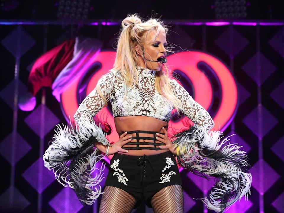 Spears on stage in 2016 (Getty)