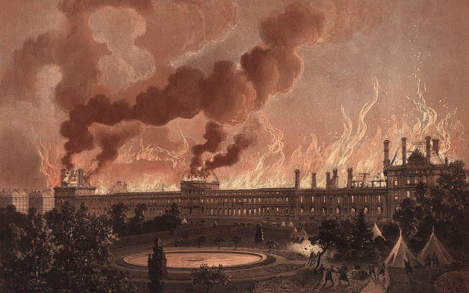 The burning of the Palais des Tuileries  - Getty