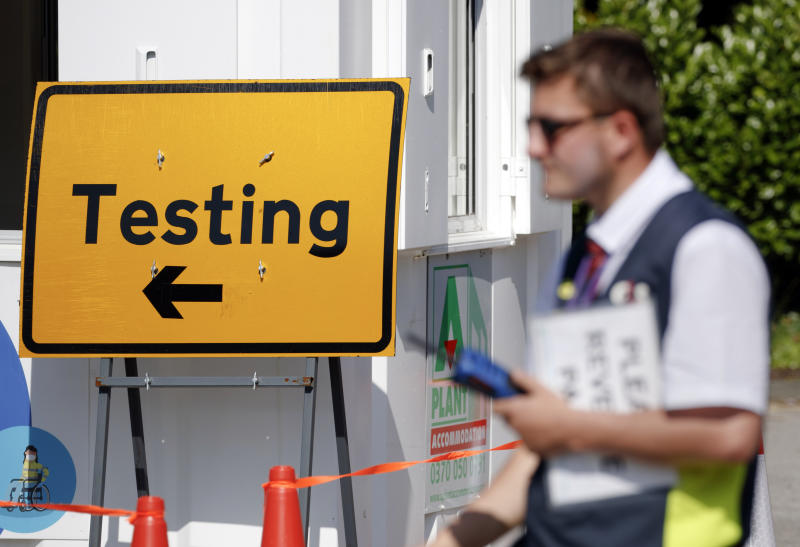 A Covid-19 testing centre at Bradford University in West Yorkshire, one of the areas where new measures have been implemented to prevent the spread of coronavirus. Stricter rules have been introduced for people in Greater Manchester, parts of East Lancashire, and West Yorkshire, banning members of different households from meeting each other indoors. (Photo by Danny Lawson/PA Images via Getty Images)