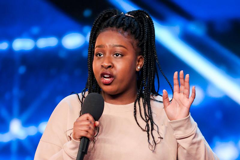 Jaw-dropping: 15 year-old Sarah Ikumu stunned the judges with her audition: Thames / Syco Entertainment