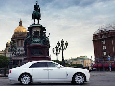Russia St Petersburg Rolls-Royce Ghost Saint Isaac's Cathedral