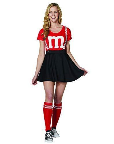 """<p><strong>Spirit Halloween</strong></p><p>amazon.com</p><p><strong>$29.99</strong></p><p><a href=""""https://www.amazon.com/dp/B07VN6GYJK?tag=syn-yahoo-20&ascsubtag=%5Bartid%7C2141.g.37159701%5Bsrc%7Cyahoo-us"""" rel=""""nofollow noopener"""" target=""""_blank"""" data-ylk=""""slk:Shop Now"""" class=""""link rapid-noclick-resp"""">Shop Now</a></p><p>What's colorful on the outside and chocolatey on the inside? Our long-time favorite button-shaped chocolates, M&M's! You and your squad can each pick a different colored <a href=""""https://www.prevention.com/beauty/g20493972/12-t-shirts-that-wont-show-every-bulge/"""" rel=""""nofollow noopener"""" target=""""_blank"""" data-ylk=""""slk:t-shirt"""" class=""""link rapid-noclick-resp"""">t-shirt</a> and dress it up with skirts, tutus, or pants. We also love that this Amazon costume set comes with matching <a href=""""https://www.prevention.com/beauty/style/g30877157/best-socks-for-women/"""" rel=""""nofollow noopener"""" target=""""_blank"""" data-ylk=""""slk:socks"""" class=""""link rapid-noclick-resp"""">socks</a> and suspenders.</p>"""