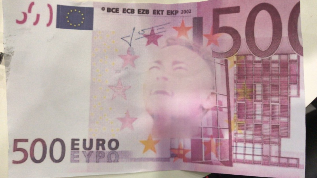 "The fake <a class=""link rapid-noclick-resp"" href=""/olympics/rio-2016/a/1215128/"" data-ylk=""slk:Neymar"">Neymar</a> Euro banknote. (Photo: Isabela Pagliari on social media)"