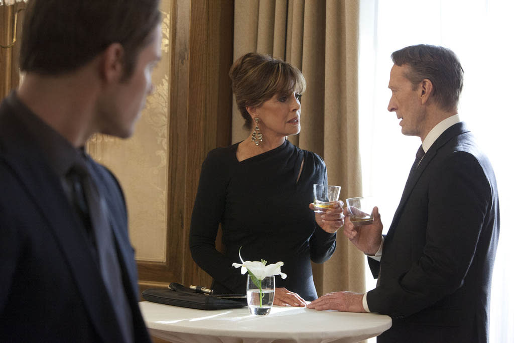 "Linda Gray in the ""Dallas"" Season 2 episode, ""J.R.'s Masterpiece."""