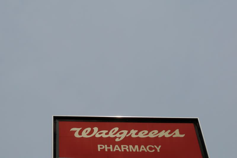 FILE PHOTO:  A sign marks a Walgreens pharmacy in Somerville