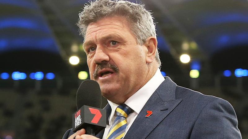 Channel 7 commentator Brian Taylor is pictured.