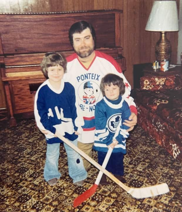 Denis Marleau and his two sons, Richard and Patrick, right, at their home near Aneroid, Sask. Now in his 23rd NHL season, Patrick Marleau said he still loves the game.