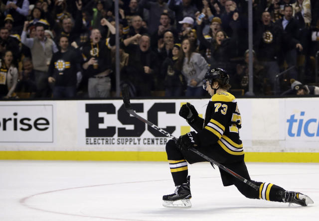 This is the tightest Calder race in years, with several forwards and Bruins rookie blueliner Charlie McAvoy leading the way. (AP Photo/Charles Krupa)