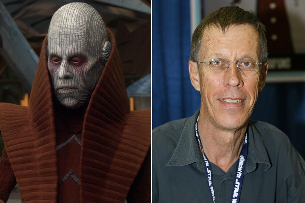 """Bruce Spence – Tion Medon<br><br>Apparently, to get cast as one of the guys behind the mask, it helps to be either really tall or really short. In Spence's 6-foot-7 case, it's the former. Spence plays Tion Medon, the Utapau inhabitant who welcomes Obi-Wan Kenobi to the planet. Spence got his start in theater, doing set construction mostly, when he was asked to fill in for someone playing a tiny role. From there, he has gone on to appear in, among many other titles, the third installment of five hugely successful franchises: """"Mad Max Beyond Thunderdome"""" (1985), """"The Matrix Revolutions"""" (2003), """"The Lord of the Rings: The Return of the King"""" (2003), """"Star Wars: Episode III - Revenge of the Sith"""" (2005), and """"The Chronicles of Narnia: The Voyage of the Dawn Treader"""" (2010)."""