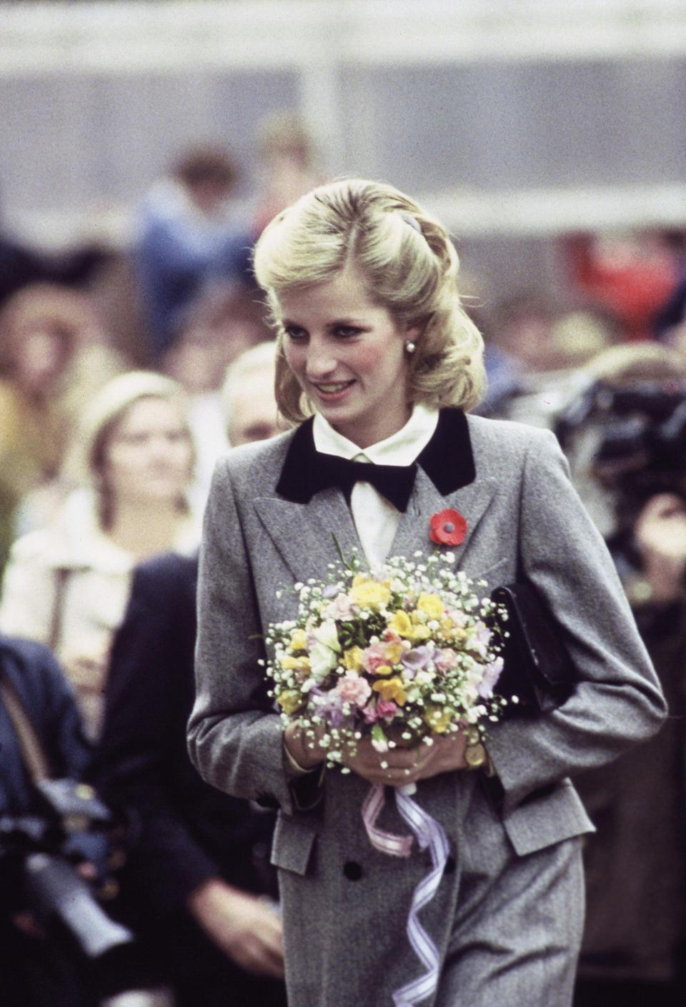 <p>With a longer bob haircut, she often styled it in a beautiful half-updo, which was complete with curls. </p>