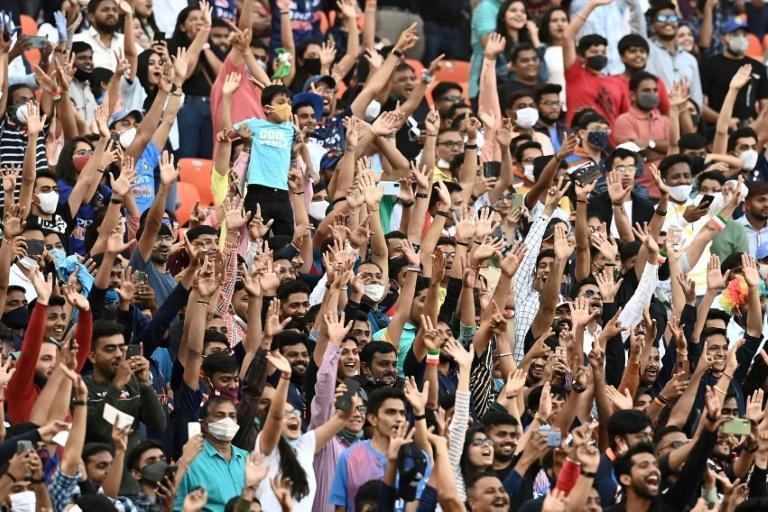 Spectators were allowed at cricket matches between India and England in Gujarat, where officials are now struggling to curb Covid-19 cases