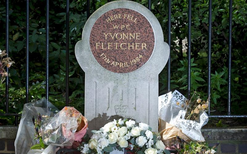 WPc Yvonne Fletcher was murdered outside the Libyan embassy in 1984  - Geoff Pugh