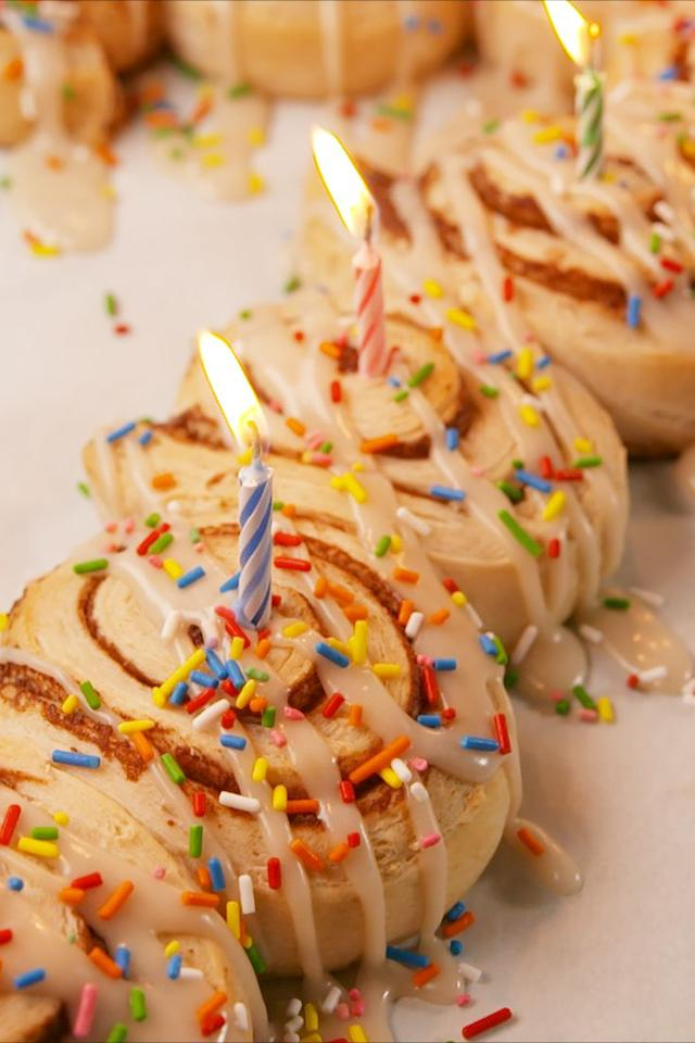 "<p>Birthday breakfasts are meant to be sweet.</p><p>Get the recipe from <a href=""https://www.delish.com/cooking/recipe-ideas/recipes/a57573/cinnamon-roll-birthday-breakfast-recipe/"" target=""_blank"">Delish</a>.</p><p><strong><em>BU Y NOW: Baking Sheets, $26.30, <a href=""http://aax-us-east.amazon-adsystem.com/x/c/QmQVZWkCoRZP_8SaE54WB5IAAAFg69g0LwEAAAFKAdeX3zU/https://www.amazon.com/Calphalon-Nonstick-Bakeware-Baking-2-Piece/dp/B008BUKO6G/ref=as_at?creativeASIN=B008BUKO6G&linkCode=w61&imprToken=id4B3KcUwSDe1ABmLL5.nA&slotNum=0&tag=delish_auto-append-20&ascsubtag=[artid